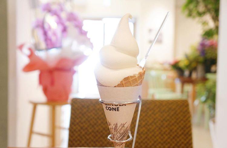 マンマペルテの豆乳ソフトクリーム