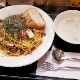 Cafe希房の和風きのこスパゲティ
