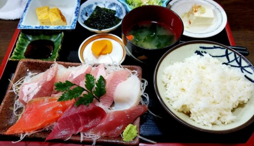 【味処ながしま】人気の刺身盛り合わせ定食が500円で食べれる厚別の定食屋さん!