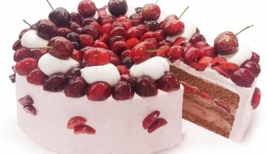 カフェコムサの毎月22日は『ショートケーキの日』。6月はアメリカンチェリーを使ったケーキを提供
