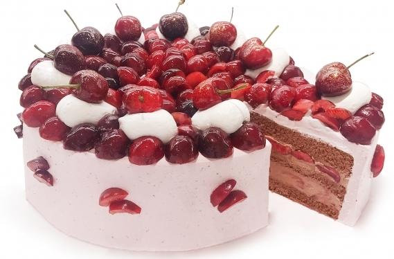 アメリカンチェリーのショコラショートケーキ