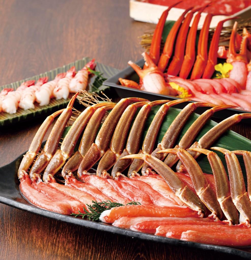2種の蟹しゃぶと2種の茹で蟹食べ放題