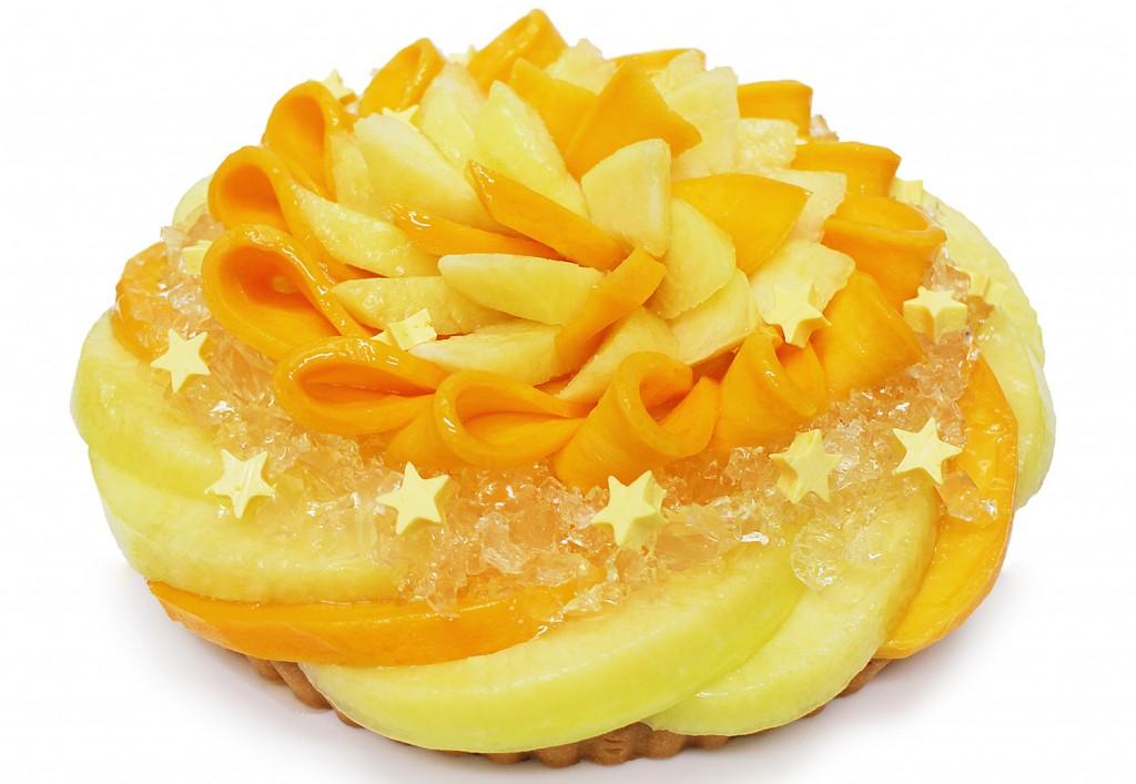 彦星 ~静岡県産マスクメロンとマンゴーのケーキ~[ベース:フロマージュブラン]
