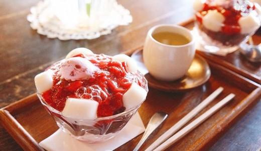 【円山茶寮(まるやまさりょう)】いちごたっぷり『いちごぜんざい』を提供する西28丁目の古民家カフェ