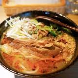 高級麺料理 昼膳 無聊庵の寄町石田めん羊牧場さんのホゲット肉スペアリブの 甘辛煮,羊骨と鰹出汁の熱々麺 羊骨のスープ