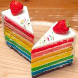 十勝トテッポ工房のレインボーケーキ
