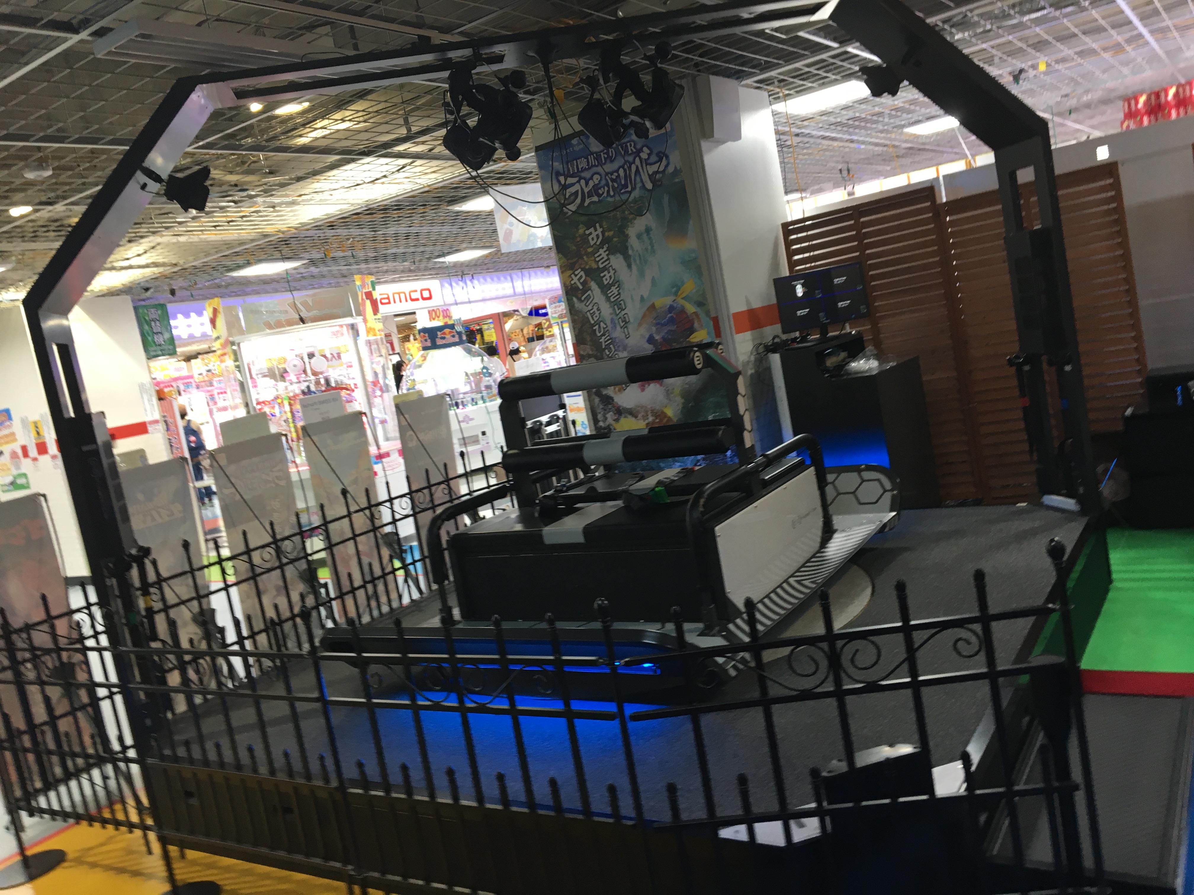 『VR ZONE Portal』namco札幌エスタ店で体験できるラピッドリバーの筐体