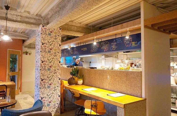 cafe de ferme(カフェ ド フェルム)の店内
