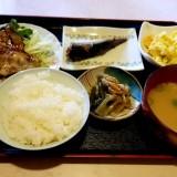喫茶店『館』の日替定食の焼肉