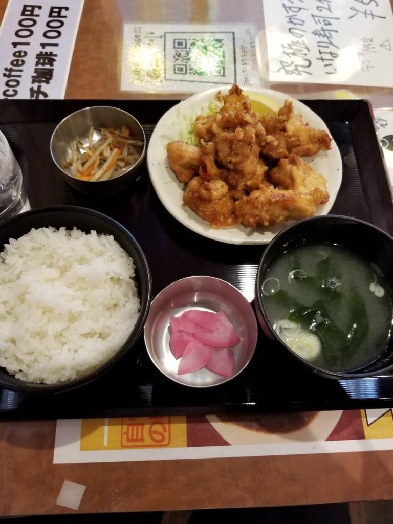 新橋立呑処 へそ 札幌大通店のザンギ定食