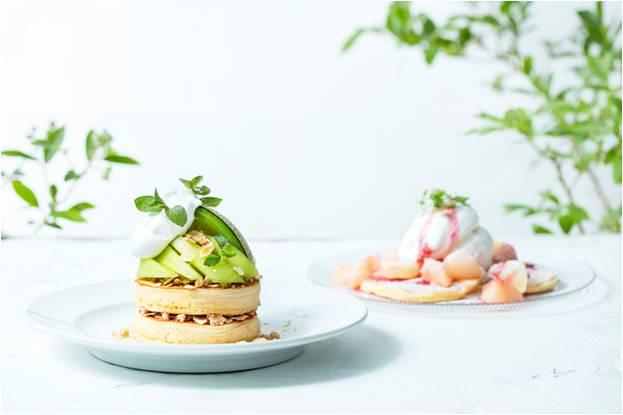 J.S.パンケーキカフェでメロンと桃のパンケーキを販売する夏フェアが開催!