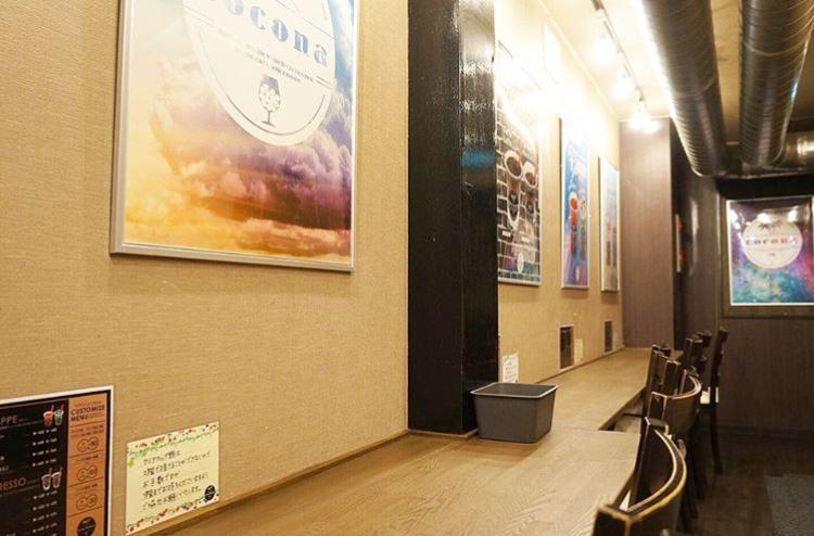 タピオカカフェ ココナ 南1条店のイートインスペース