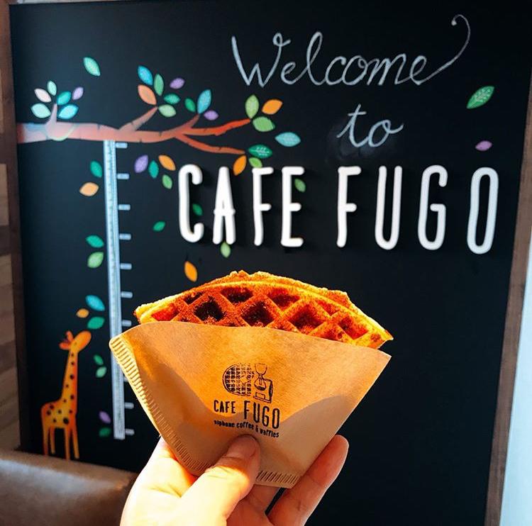 CAFE FUGOのテイクアウトワッフル