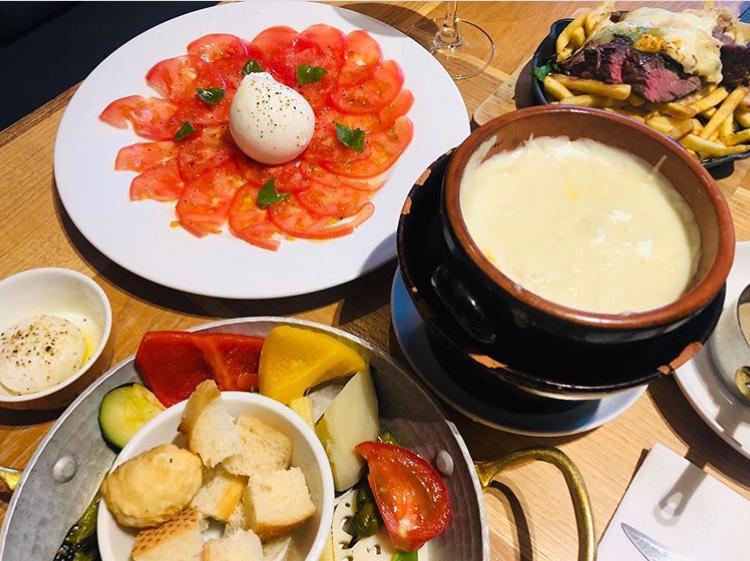 ボヌール 札幌のチーズフォンデュ