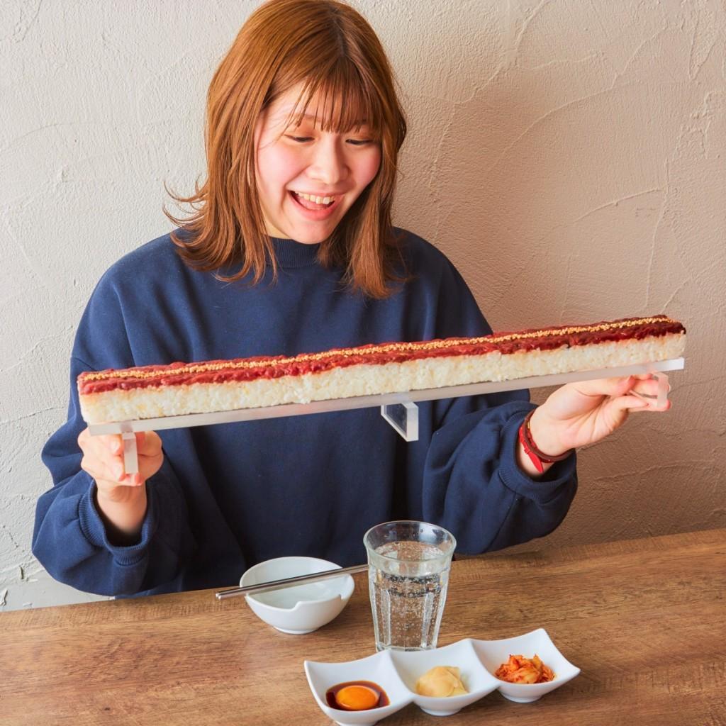 紅音 札幌すすきの店のロングユッケ寿司3