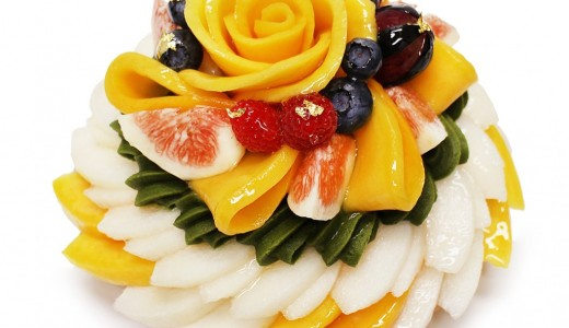 カフェコムサで敬老の日限定ケーキ『マンゴーと梨の抹茶モンブラン』が発売!