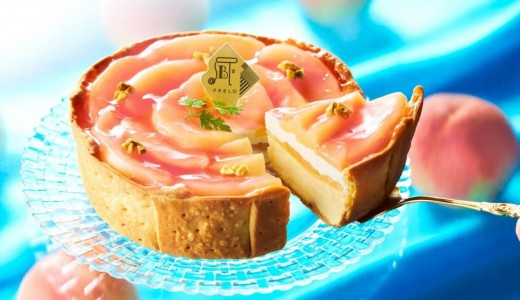 焼きたてチーズタルト専門店パブロ PABLOで桃を使用した新作タルト『白桃とヨーグルトのチーズタルト』が発売!