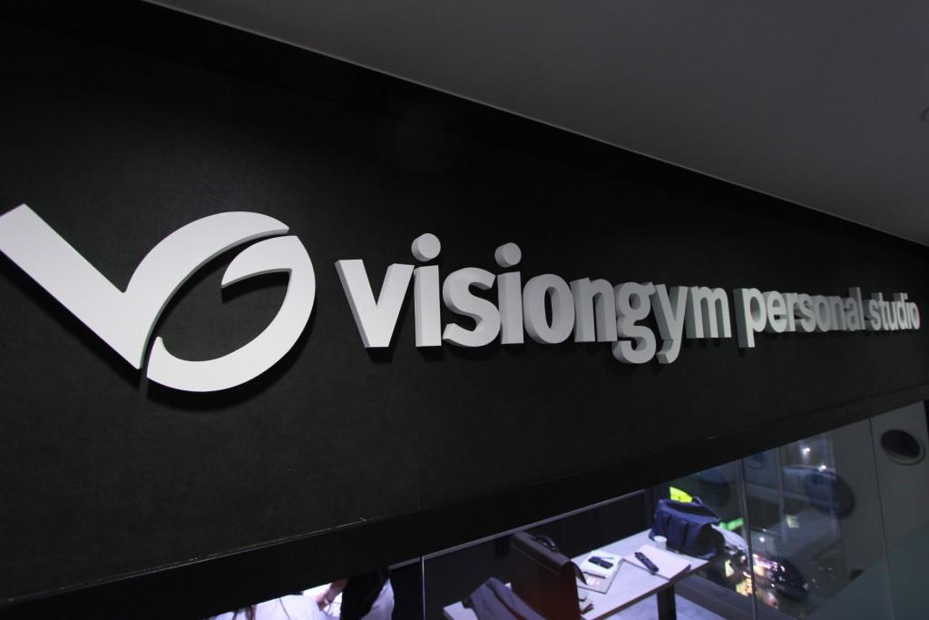 Visiongym personal studio札幌店の看板