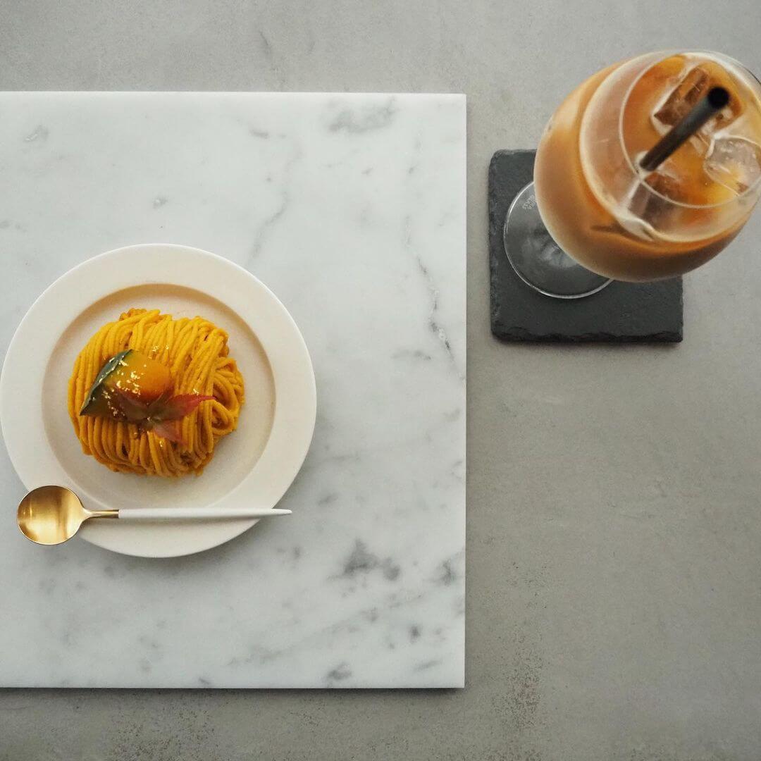 any cafe(エニーカフェ)の『かぼちゃモンブランプリン』