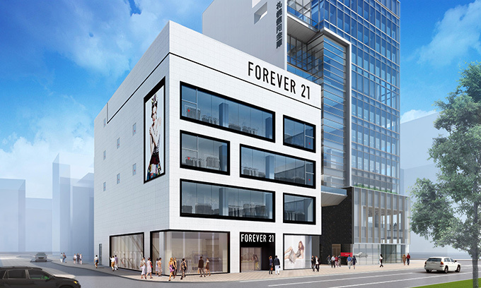 Forever21 札幌店の外観