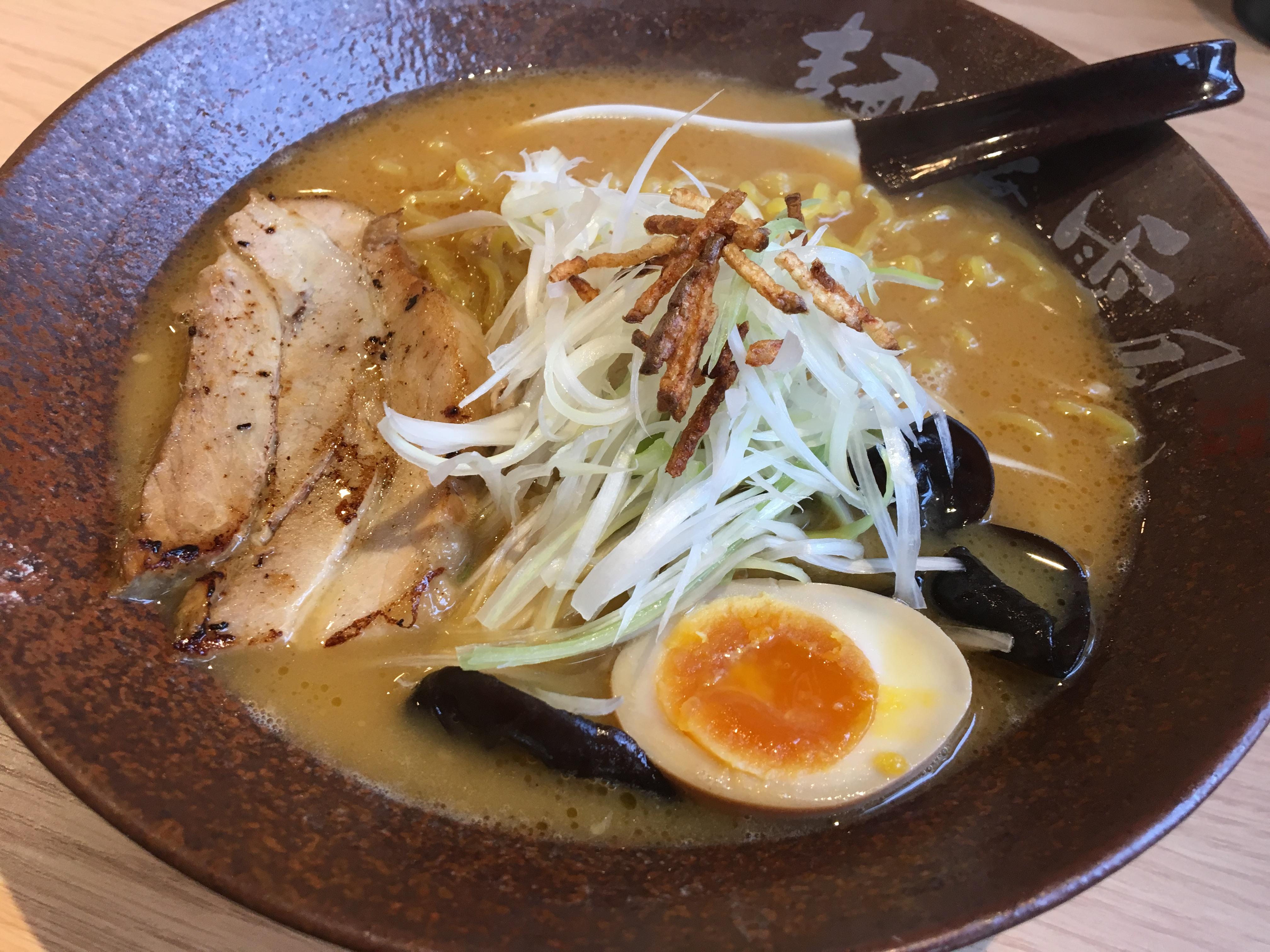 麺屋 雪風(めんや ゆきかぜ) 清田店の濃厚味噌らーめん(アップ)