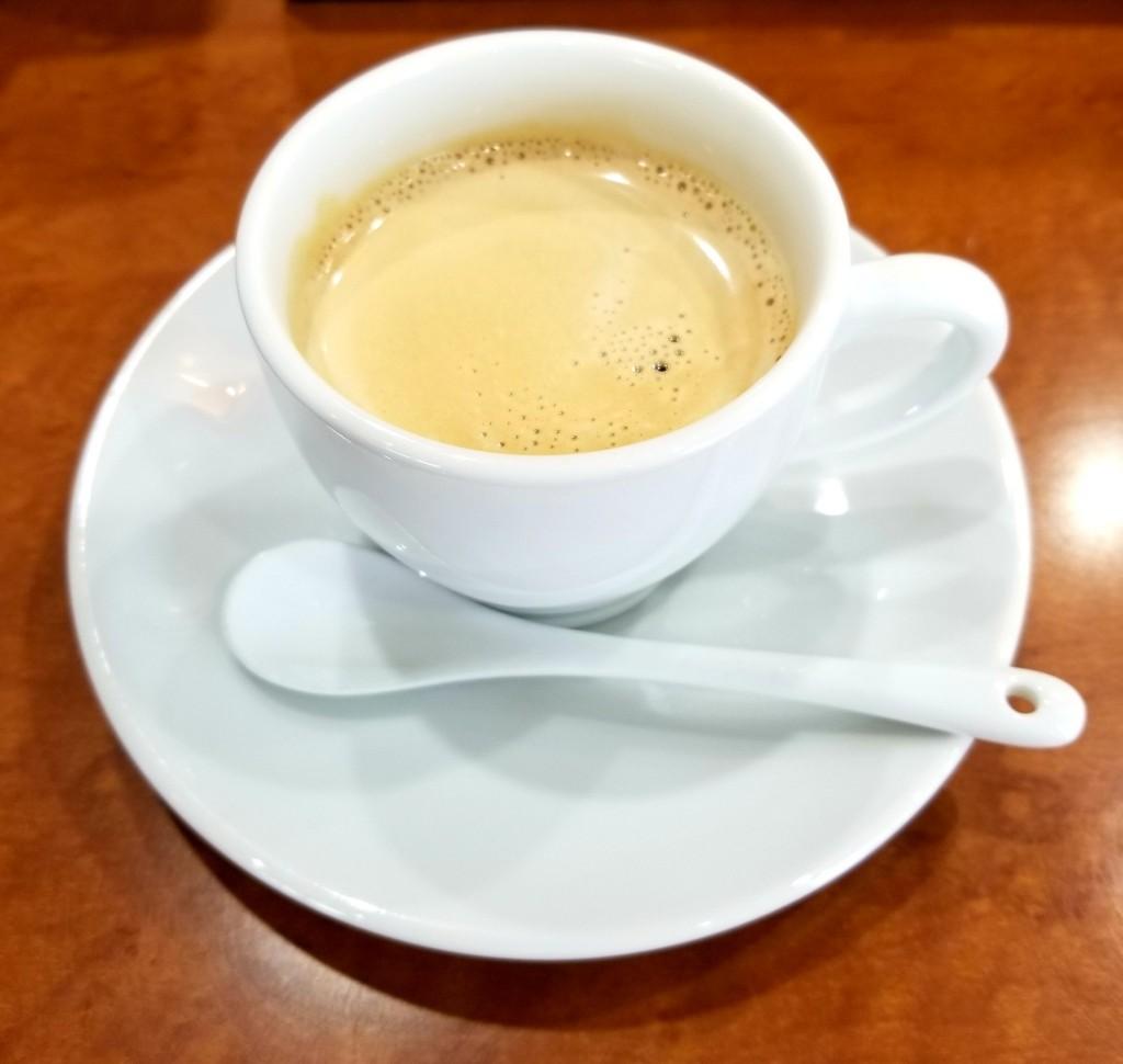 回転寿司 えりも岬の食後のコーヒー
