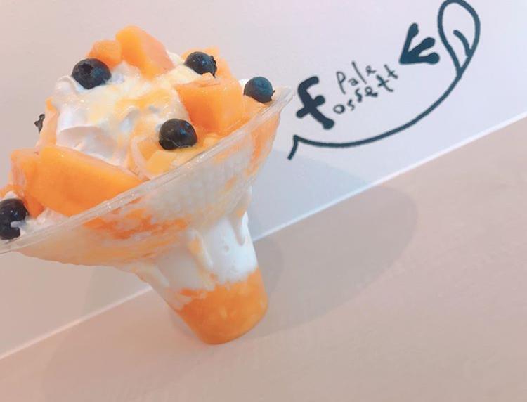 パレフォセットのかき氷(マンゴー)