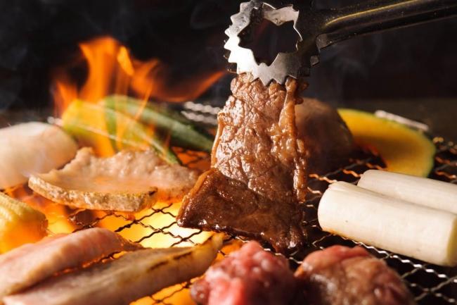 七輪焼肉安安(あんあん)の焼肉