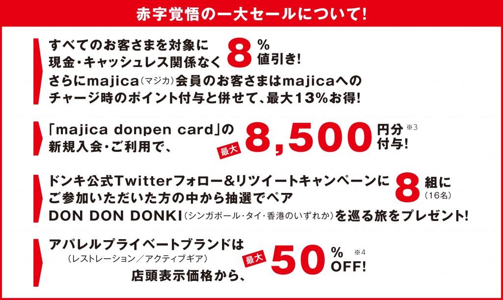 赤字覚悟の一大セール『ドン・キホーテが8%も負担するゼィ!』について