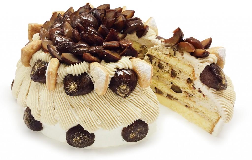 カフェコムサの『やまえ栗』のショートケーキ