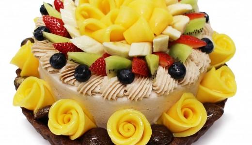 カフェコムサで5種類の新鮮なフルーツと秋の味覚を融合した『フルーツマロンショート』が9月12日(木)より発売!