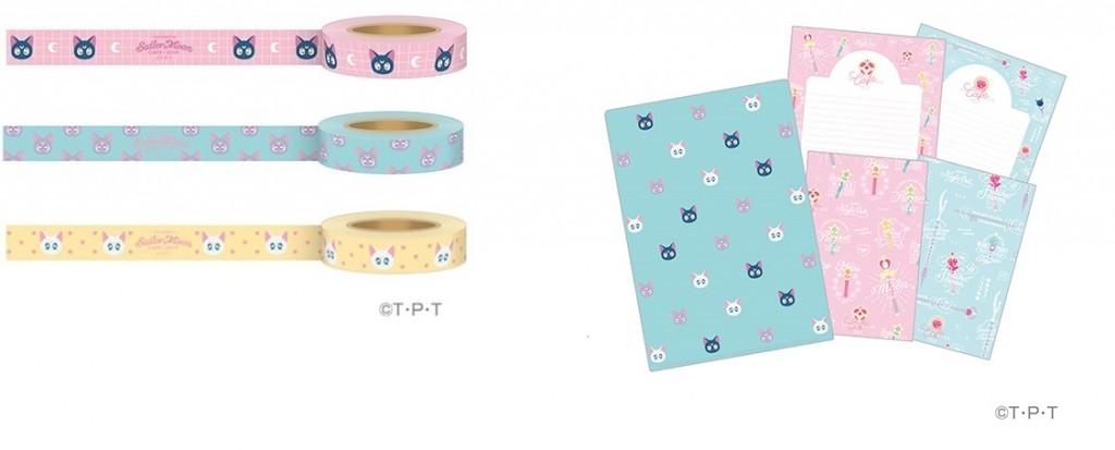 マスキングテープ 各500円(左)&レターセット 1,000円(右)