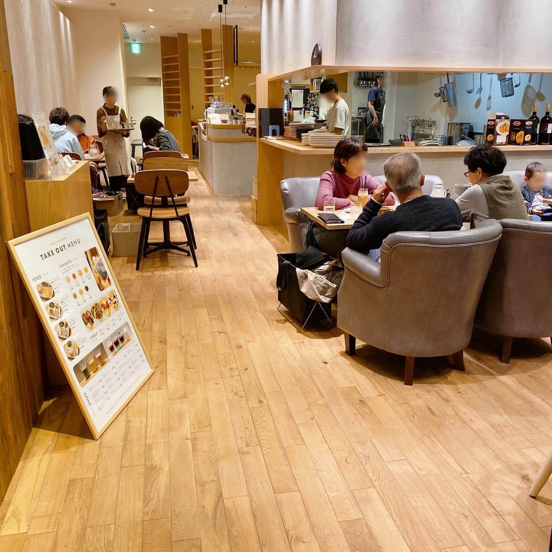 CafeBlue(カフェブルー) シタッテサッポロ店の店内