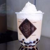 徳茶 札幌店のほうじ茶マロンタピオカ