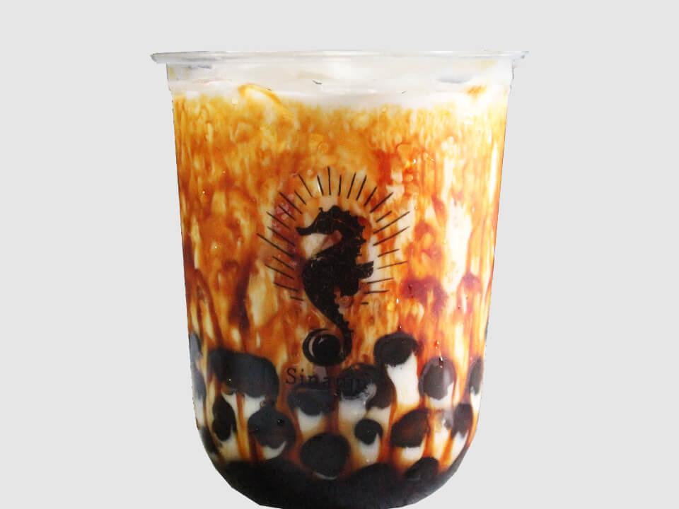 辰杏珠(しんあんじゅ)の黒糖バブルミルク