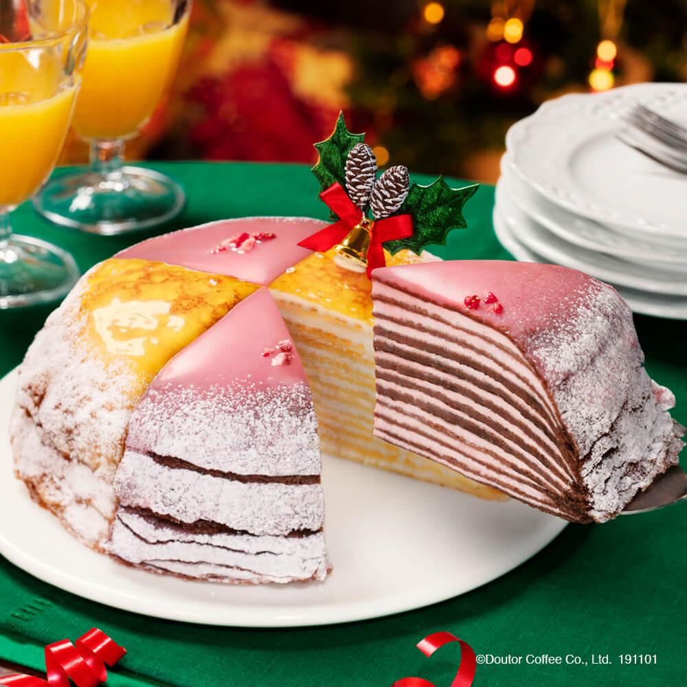 シェアできる2つのミル。ドトールから数量限定のクリスマスミルクレープが11月1日より予約開始!