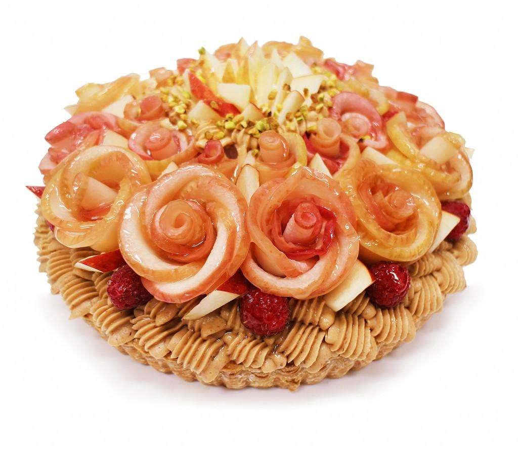 青森県産「紅玉(こうぎょく)」りんご アップルローズのキャラメルモンブラン