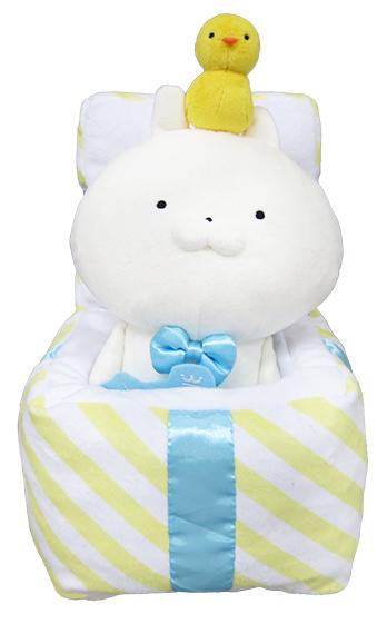 うさまるプレゼントボックスぬいぐるみ/3,000円(税抜)