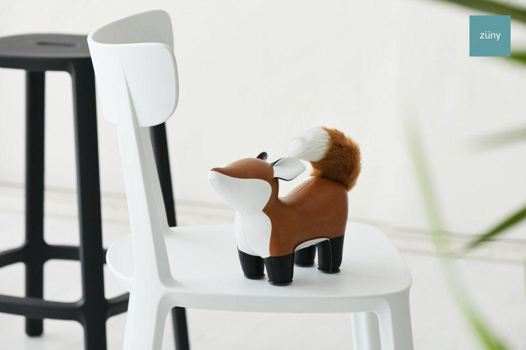 狐ブックエンド ブラウン(Zuny)