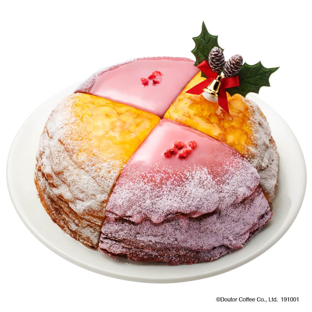 ドトールの期間限定商品『クリスマスミルクレープ』