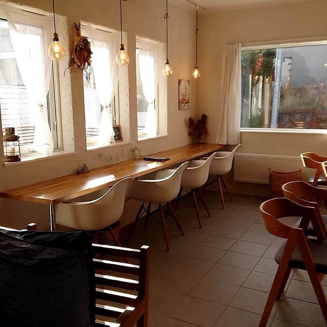 cafe shael(カフェ シャエル)の店内(窓向けの席)