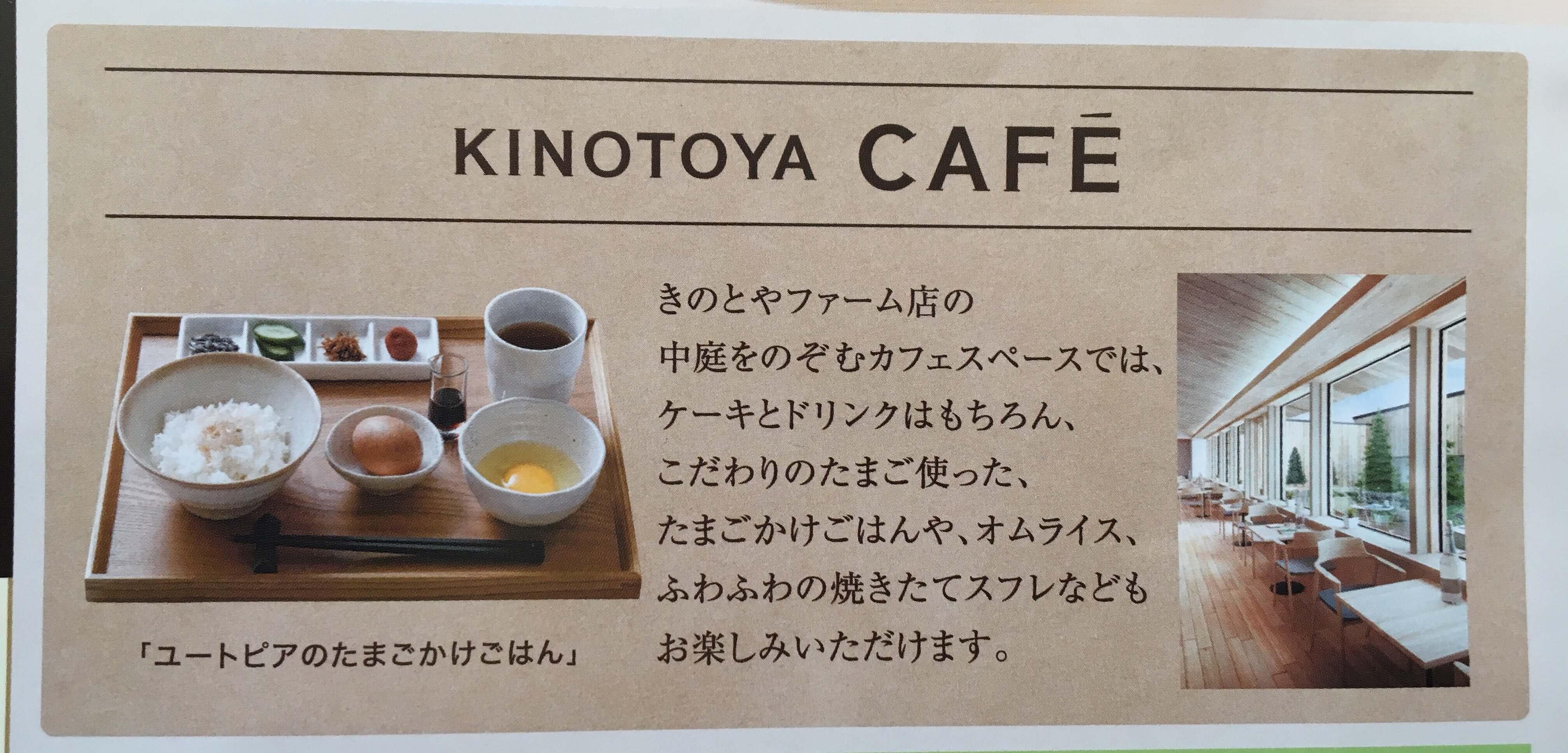 きのとやファーム店にはカフェも併設!