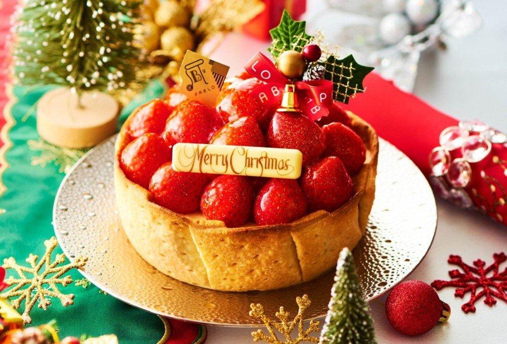 パブロの『たっぷりいちごのチーズタルト』(クリスマス特別仕様)