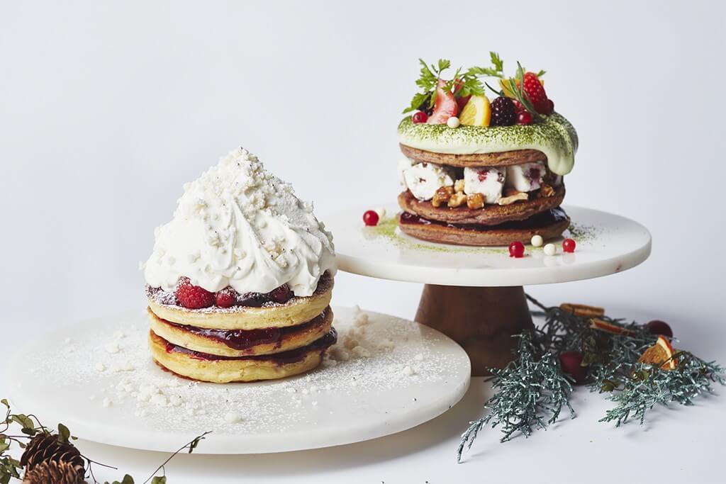 J.S. パンケーキカフェの『ホワイトクリスマススノー』&『クリスマスグリーンリース』
