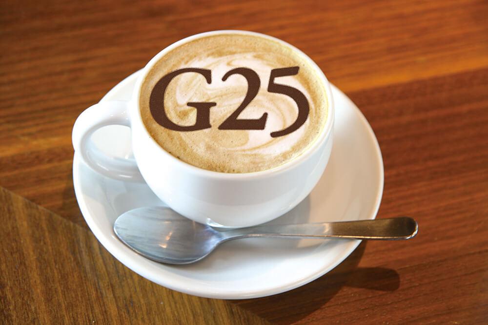 THE GOSPELLERS CAFEのG25ラテ