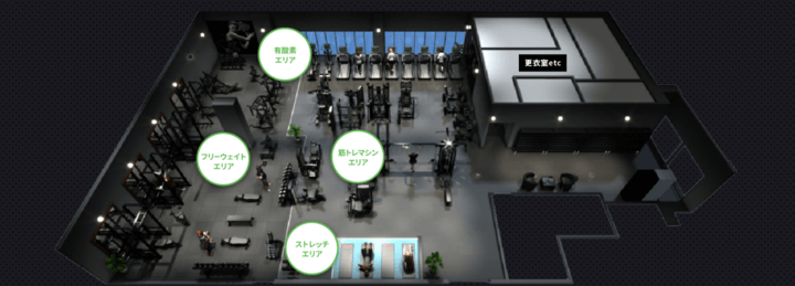 FiT24 札幌狸小路2丁目店の店内