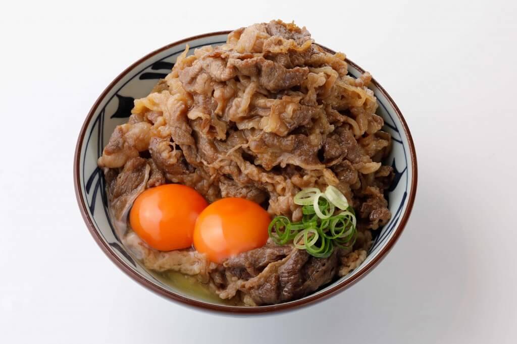 丸亀製麺の『牛すき釜玉』