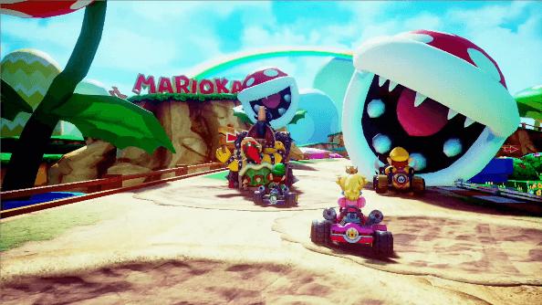 マリオカート アーケードグランプリVRのプレイ画面