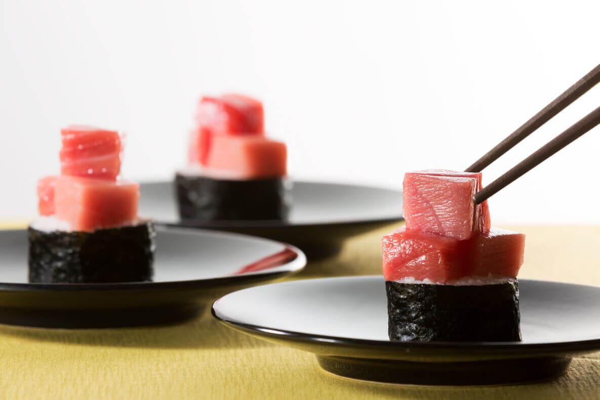 クリスマスディナーブッフェの『生鮪中トロののっけ寿司』