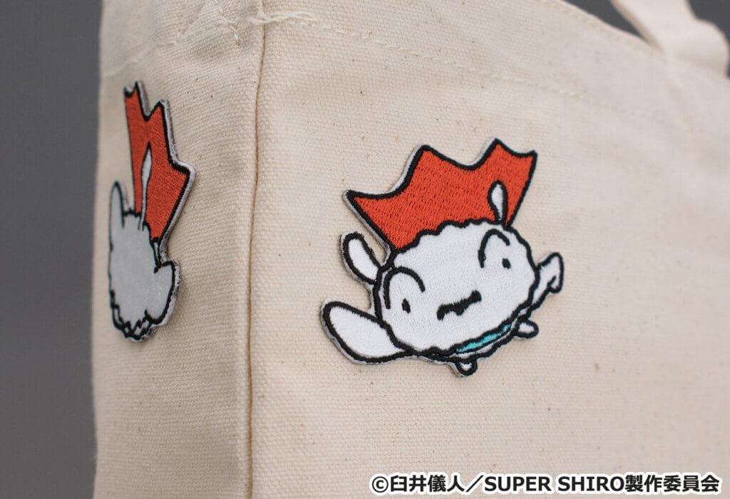 SUPER SHIRO とびだすスーパーシロのワッペンステッカー5